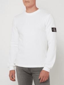Sweter Calvin Klein z okrągłym dekoltem z bawełny w stylu casual