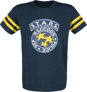 Niebieski t-shirt Emp w młodzieżowym stylu z krótkim rękawem