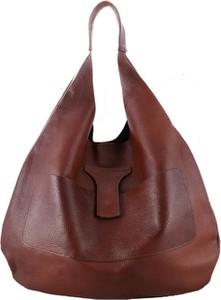 Brązowa torebka TrendyTorebki duża matowa na ramię