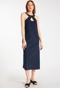 Sukienka Monnari z tkaniny bez rękawów z okrągłym dekoltem