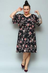 Sukienka KARKO z długim rękawem z szyfonu