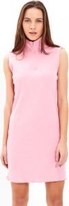 Różowa sukienka Gate z bawełny mini