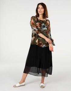 Sukienka Unisono z tkaniny z długim rękawem maxi