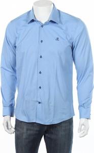 Niebieska koszula Sir Raphael z długim rękawem