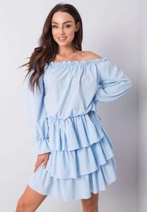 Sukienka Promese mini hiszpanka z długim rękawem