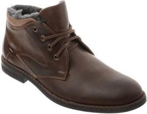 Brązowe buty zimowe butyolivier.pl sznurowane ze skóry