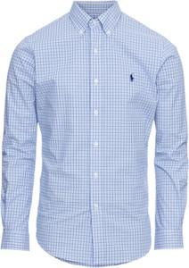 Niebieska koszula POLO RALPH LAUREN z bawełny z klasycznym kołnierzykiem