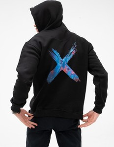 Czarny sweter Point X z bawełny