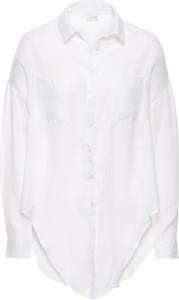 Biała koszula bonprix bodyflirt z długim rękawem bez wzorów