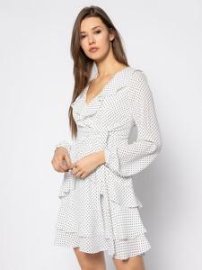 Sukienka Guess mini z długim rękawem z dekoltem w kształcie litery v