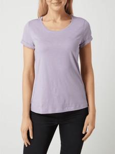 Fioletowy t-shirt Esprit
