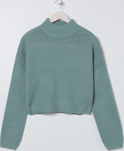 Turkusowy sweter Sinsay w stylu casual