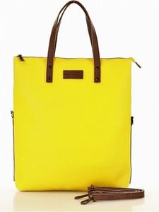 Żółta torebka MAZZINI duża