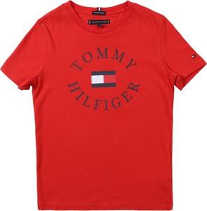 Czerwona koszulka dziecięca Tommy Hilfiger