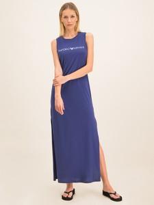 Fioletowa sukienka Emporio Armani w stylu casual bez rękawów