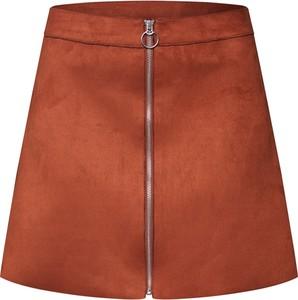 Pomarańczowa spódnica Only mini w stylu casual
