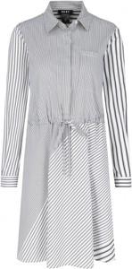 Sukienka DKNY z kołnierzykiem z długim rękawem midi