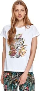 T-shirt Drywash z krótkim rękawem w młodzieżowym stylu z bawełny