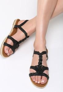 Czarne sandały Multu