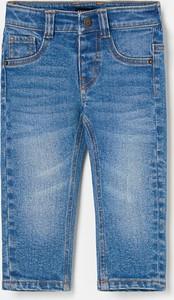 Niebieskie jeansy dziecięce Reserved dla chłopców z jeansu