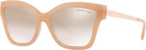 Pomarańczowe okulary damskie Michael Kors