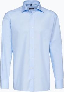 Niebieska koszula Eterna z klasycznym kołnierzykiem z długim rękawem