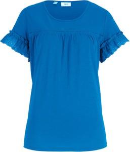 T-shirt bonprix bpc bonprix collection z okrągłym dekoltem z krótkim rękawem