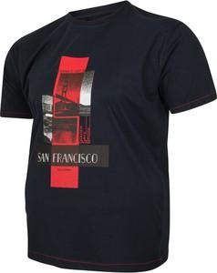 T-shirt Bigsize z krótkim rękawem z bawełny