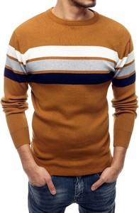 Brązowy sweter Dstreet w młodzieżowym stylu z wełny