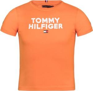 Pomarańczowa koszulka dziecięca Tommy Hilfiger