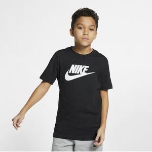 Czarna koszulka dziecięca Nike z bawełny dla chłopców