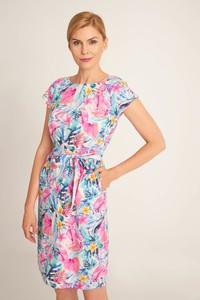 Sukienka QUIOSQUE w stylu casual z krótkim rękawem