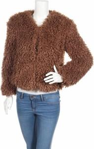 Brązowy płaszcz Bershka w stylu casual