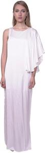 Sukienka Je Suis Le Fleur z jedwabiu maxi z okrągłym dekoltem