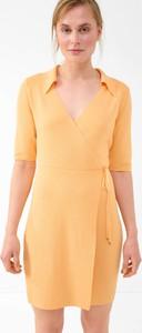 Sukienka ORSAY z krótkim rękawem kopertowa w stylu casual