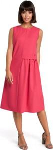 Sukienka Be z okrągłym dekoltem z tkaniny bez rękawów