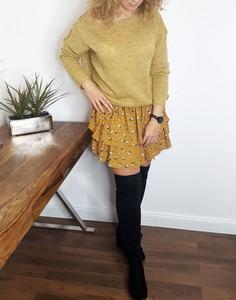 Żółta spódnica Lamaja Butik mini