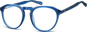 Stylion Okrągłe oprawki Lenonki zerówki korekcyjne Sunoptic AC21D ciemny niebieski