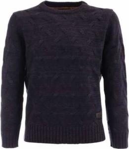 Niebieski sweter Yes Zee z wełny w stylu casual