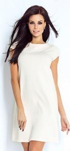 Sukienka Ivon mini z krótkim rękawem z bawełny