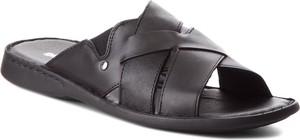 Brązowe buty letnie męskie Gino Rossi ze skóry