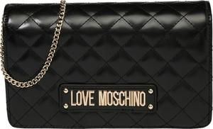 Czarna torebka Love Moschino ze skóry na ramię mała