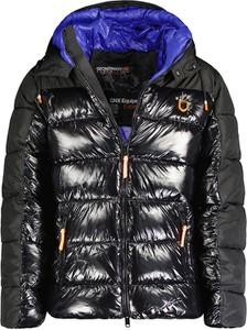 Czarna kurtka Geographical Norway krótka w stylu casual