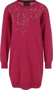 Sukienka Boutique Moschino z długim rękawem w stylu casual z wełny