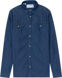 Niebieska koszula Selected Homme z klasycznym kołnierzykiem w stylu casual