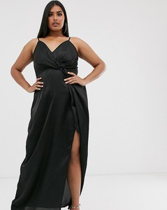 Czarna sukienka Missguided Plus maxi