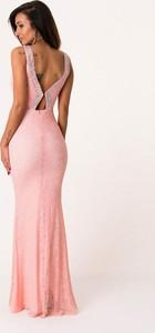 Sukienka Moda Dla Ciebie maxi bez rękawów dopasowana