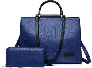 Niebieska torebka Cikelly na ramię matowa