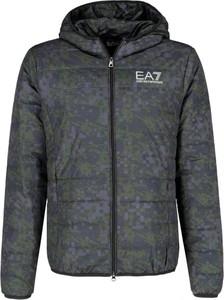 Kurtka EA7 Emporio Armani z nadrukiem w stylu casual