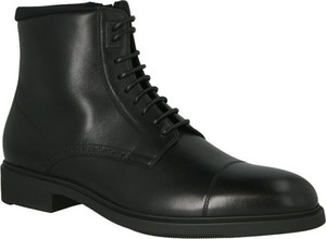 Czarne buty zimowe Hugo Boss sznurowane